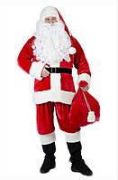 Комплект костюма Санта Клауса с бородой и париком