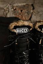 Женские зимние ботинки GUCCI черные. В Украине!, фото 3