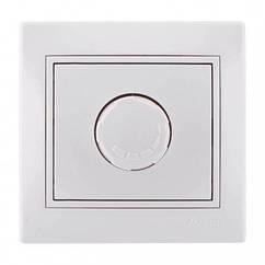 Светорегулятор 500 Вт с фильтром и предохранителем белый Lezard Mira 701-0202-117
