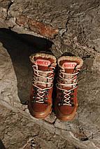 Женские зимние ботинки GUCCI коричневые. В Украине!, фото 2