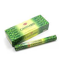 Благовония Cannabis HEM 20шт/уп. Аромапалочки Конопля (27496)