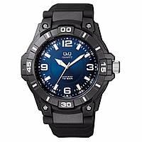 Часы мужские Q@Q модель VR86J004Y черные 10Bar (можно нырять, противоударные)