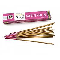 Благовония Golden Nag Meditation Vijashree 15г. Аромапалочки Медитация (32273)