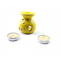 Аромалампа подарочный набор желтая 12,5х8х7,5см  (32302A)