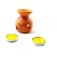 Аромалампа подарочный набор оранжевая 12,5х8х7,5см  (32302D)