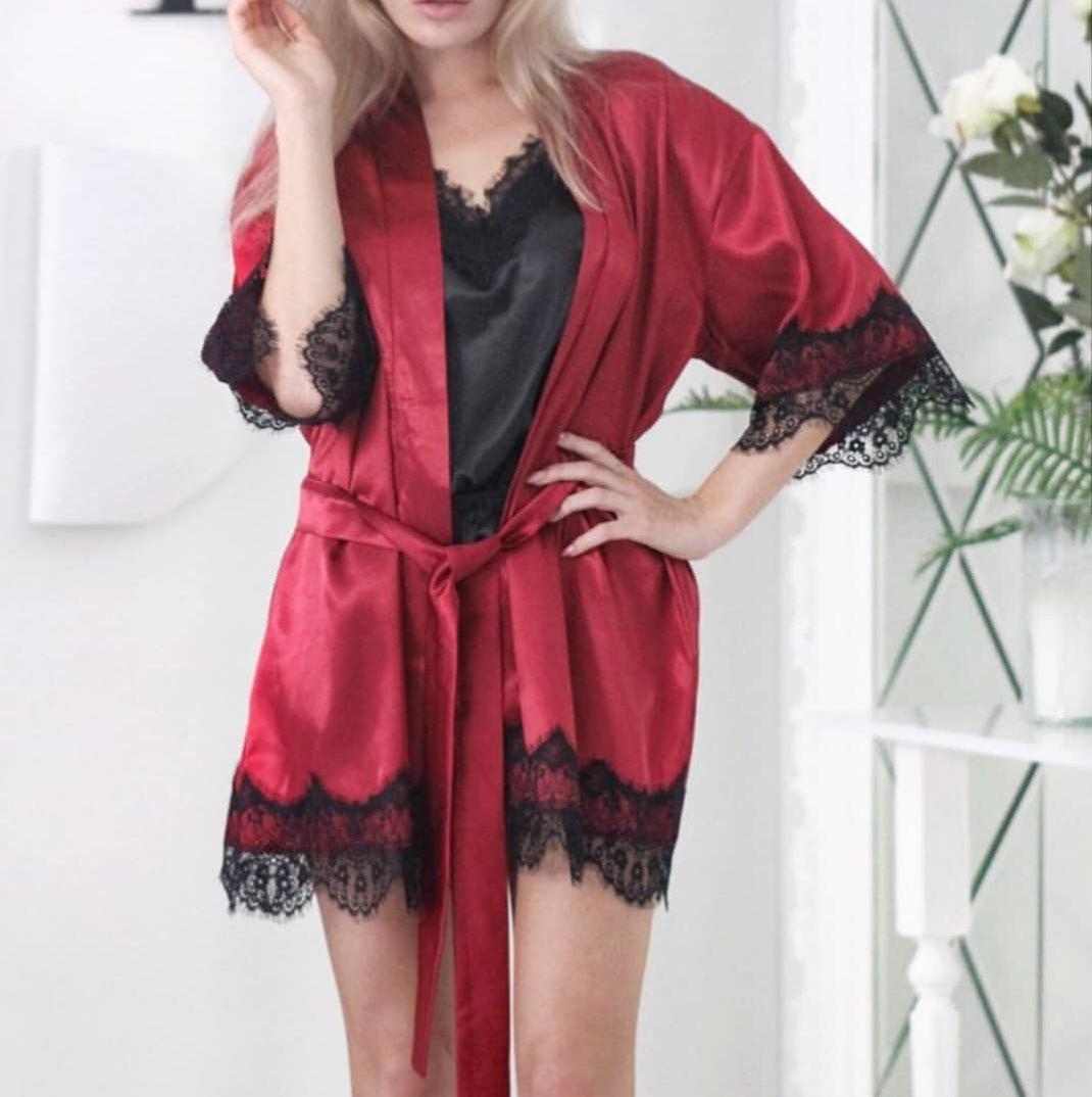 a3df13f8f0d11 Халат и пижама из атласа, цена 494 грн., купить в Харькове — Prom.ua  (ID#815879043)