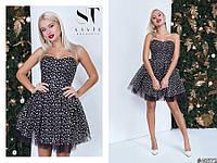 84b441389dc0006 Красивое женское короткое платье с корсетом и пышной юбкой С, М, Л