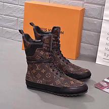 Женские высокие кожаные осенние ботинки Louis Vuitton , фото 3
