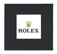 Черная подарочная картонная коробочка Rolex для наручных часов