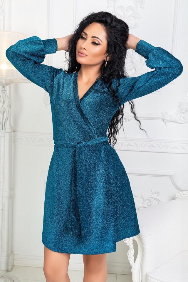 fff7bc64bc9 Платье с люрексом стильное синее - Оптовый интернет-магазин