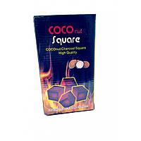 Уголь для кальяна кокосовый 96 шт 1 кг 19,5х11х7,5см (32316)