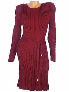 Стрейчевое платье на зиму (в расцветках)