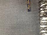 Палантин жіночий з бахромою колір сірий, фото 2