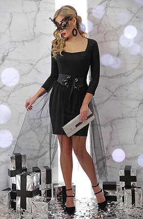 Оригинальное вечернее платье  с юбкой из фатина Размеры S M L , фото 2