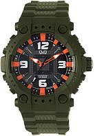 Часы мужские Q@Q модель GW82J004Y черные 10Bar (можно нырять, противоударные), фото 1