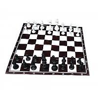 Шахматы дорожные в блистере с мягкой доской h фигур 4,5-9,5см (32386)