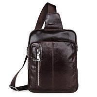 """Рюкзак сумка через плече """"Стиляга 3"""" кожа, фото 1"""