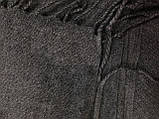 Палантин жіночий з бахромою колір сірий, фото 3
