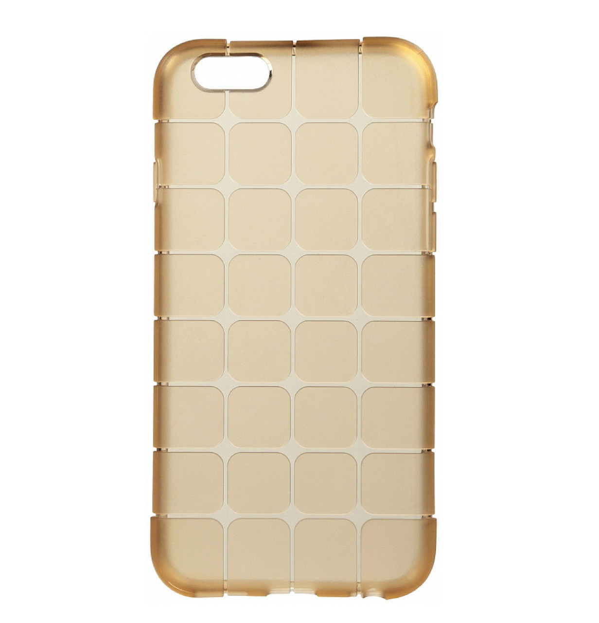 Силиконовый чехол (накладка) TOTO TPU case Square для IPhone 6 / 6s Gold