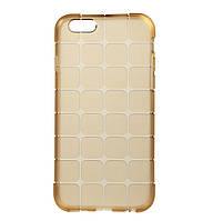 Силиконовый чехол (накладка) TOTO TPU case Square для IPhone 6 / 6s Gold, фото 1