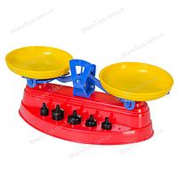Детские игрушечные весы с гирями