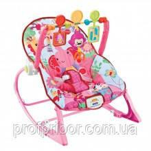 Детский шезлонг Bambi Baby Jungle 8617 с вибрацией