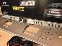 Держатель номеров с LED подсветкой + встроеная камера заднего вида чёрная