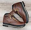 Чоловічі коричневі черевики Timberland WATERPROOF. Натуральна шкіра та хутро., фото 2