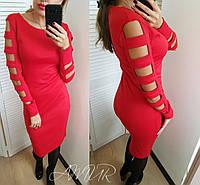 Женское модное платье - футляр  СО1194 (бат), фото 1