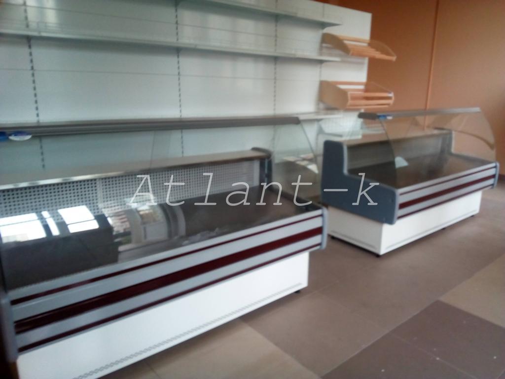 Витрины Пальмира и металлические стеллажи в продуктовом магазине, г. Киев 3