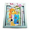 Блокнот с замком для девочек голубой 2 ключа 19,5х17,5х2см (32098C)