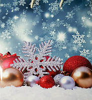 "Новогодний подарочный пакет ""Квадрат"" с широким дном 22х20х13"