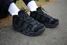 Кроссовки мужские Nike Air More Uptempo Black Найк Аир Мор Аптемпо Реплика, фото 2
