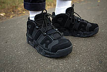 Кроссовки мужские Nike Air More Uptempo Black Найк Аир Мор Аптемпо Реплика, фото 3