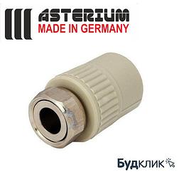 Asterium Германия Муфта С Накидной Гайкой Ø25Х3/4 (Пластиковая Вставка)