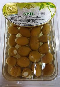Маринованные зеленые оливки с сыром 220 г