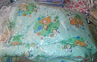 Защита для детской кроватки Мишки на полянке