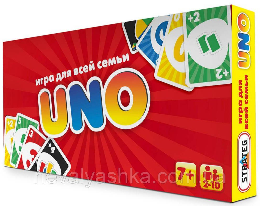Настольная Игра UNO УНО классика, Стратег STRATEG, 053, 008504