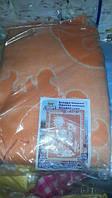 Одеяло оранжевое детское 100% хлопок, 100-140 см