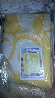 Одеяло желтое детское 100% хлопок, 100-140 см