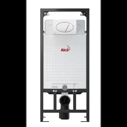 Скрытая система инсталляции, 1120x150x520 для гипсокартона в комплекте с белой кнопкой Alca Plast, фото 2
