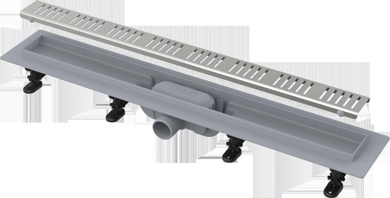 Душевой канал APZ10- 650 Alca Plast с решеткой из нержавеющей стали, фото 2