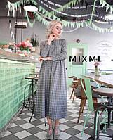 Сукня Fabi кашемірова у клітинку міді, фото 1