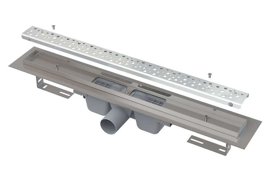 Водосточный желоб APZ1111-Low- 850 (глянц.) с решеткой Антивандал в комплекте Alca Plast
