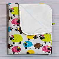 Непромокаемая пеленка BabySoon Разноцветные барашки 70 х 80 см (0645), фото 1
