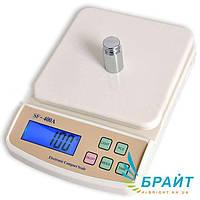 Кухонные весы SF-400A до 10 кг с подсветка и функция подсчета + питание 5V