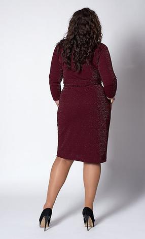 """Платье """"Мери""""  в большом размере размер 52 электрик, фото 2"""