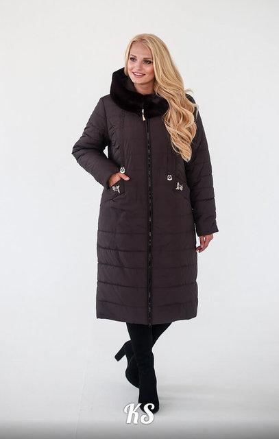 Женское зимнее пальто плащевка силикон 230 раз. 52, 54, 56, 58, 60, 62