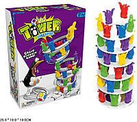 Игровой набор 1227-09 в комплекте: игральная кость, 10 колец, 48 пингвинов, наклейки, в кор. 25*10*19см