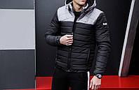 "Мужская зимняя куртка Pobedov Winter Jacket ""Rise"" Black/Grey, фото 1"